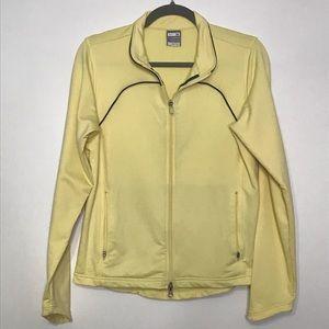 Nike fit dry full zip coat yellow pockets medium